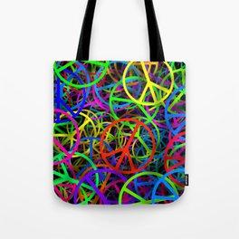 Groovy Peace Rainbow Tote Bag
