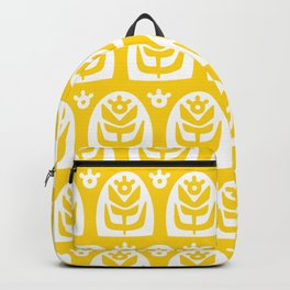 Mid Century Modern Sunflower Yellow Backpack