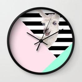 Llamas Amor Geometría Wall Clock