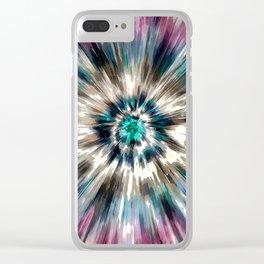 Starburst Tie Dye Clear iPhone Case