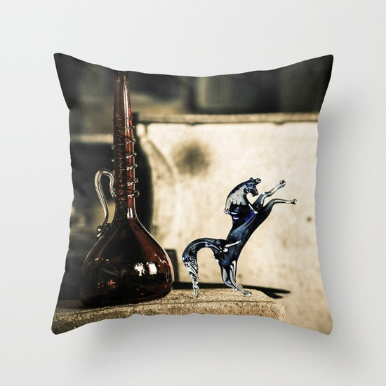 Horse of Glass, Italy Throw Pillow
