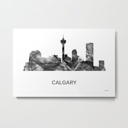 Calgary Alberta Canada Skyline WB-BW Metal Print