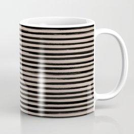 Skinny Stroke Horizontal Black on Nude Coffee Mug