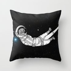 André Floating Around in Otter Space Throw Pillow