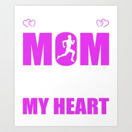 Track And Field Moms Full Heart Mothers Day T-Shirt Art Print