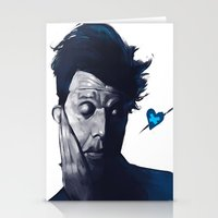 tom waits Stationery Cards featuring Tom Waits - Blue Valentines by Brad Collins Art & Illustration
