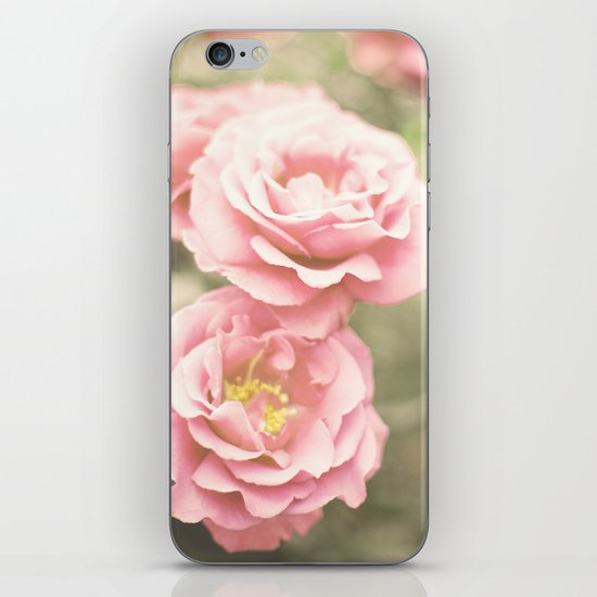 Haze Roses (Retro and Vintage Flower Photography) iPhone & iPod Skin