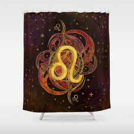 Leo Zodiac Fire element Shower Curtain