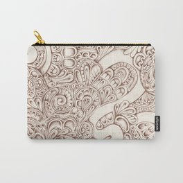 Pencil: Reddish-Brown Freehand Carry-All Pouch