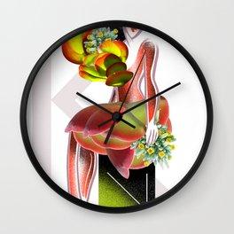 Succulent a la Mode: Kalanchoe Wall Clock