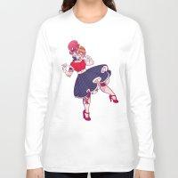 rockabilly Long Sleeve T-shirts featuring Rockabilly Futakuchi Peggy by Gunkiss