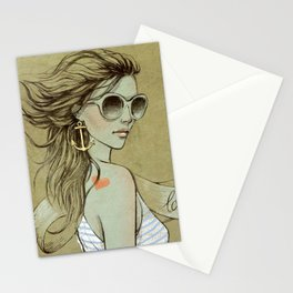 sailor girl Stationery Cards