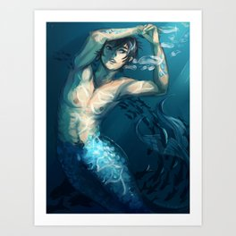 FREE! Haru Merman Art Print