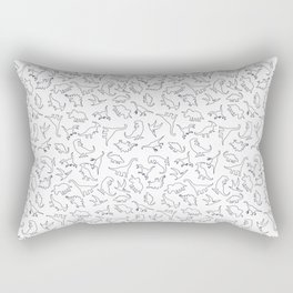 Dinosaurs Outline Pattern Rectangular Pillow