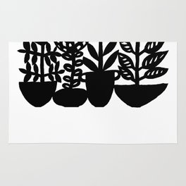 silhouette flower pots Rug