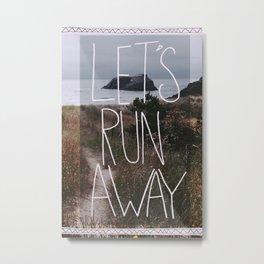 Let's Run Away: Cannon Beach, Oregon Metal Print