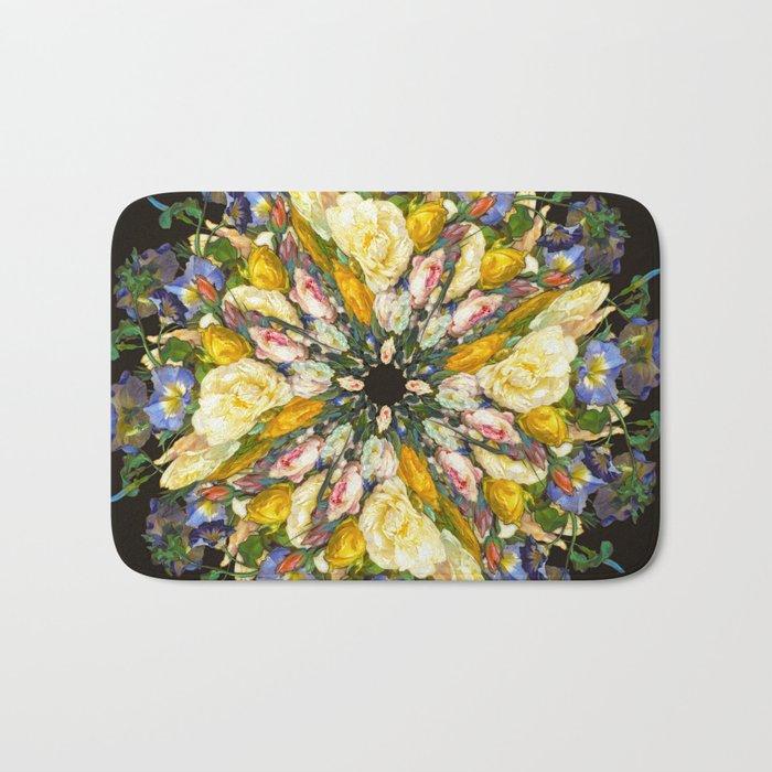 Flemish Floral Mandala 5 Bath Mat