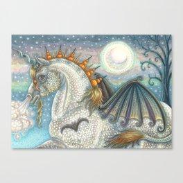 SPELLBOUND Gothic Halloween Unicorn Canvas Print