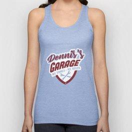 Dennis Name T-Shirt Guy Name Dennis's Garage Apparel Gift Unisex Tank Top
