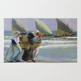 The Three Sails - Joaquin Sorolla Rug