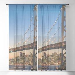 San Francisco 02 - USA Sheer Curtain