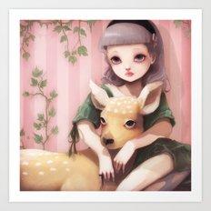My dear lady deer... Art Print
