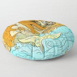 The Entangled Mermaid Floor Pillow