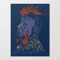 cock Canvas Prints featuring Hitch-Cock! by Joshua Kemble