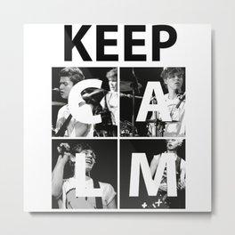 keep calm 5 sos 1D Metal Print