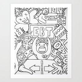 Craziness At The EBT Office Art Print