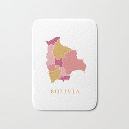 Bolivia map Bath Mat