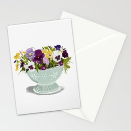 Pot of Pansies Stationery Cards