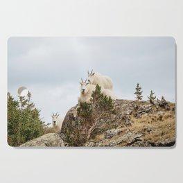 Three Ami-Goats // Scenic Hike Animals Photograph Colorado Wildlife National Park Mountain Goats Cutting Board