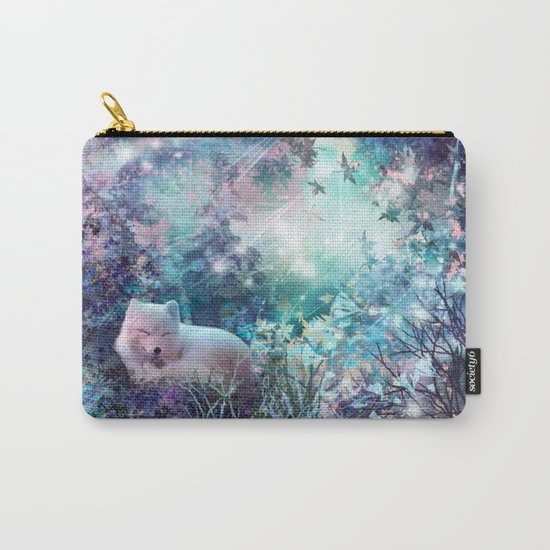 sleeping fox, enchanted dreams Carry-All Pouch