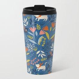 Cats & Flora Metal Travel Mug