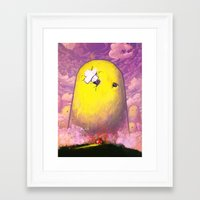 mario Framed Art Prints featuring Mario by Ronan Lynam