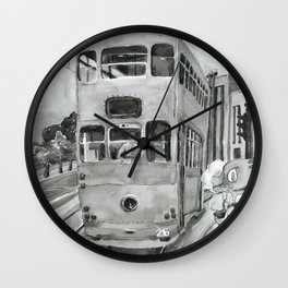 { 未來惑星 } Tramcar Wall Clock