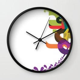 Flowers of Simele Wall Clock