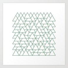 #264 Mountain range – Geometry Daily Art Print