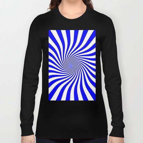 Swirl (Blue/White) Long Sleeve T-shirt