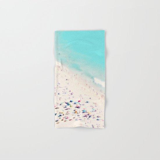 beach love III square Hand & Bath Towel