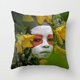 Suri Green Throw Pillow