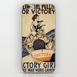 Vintage poster - Victory Girls iPhone Skin