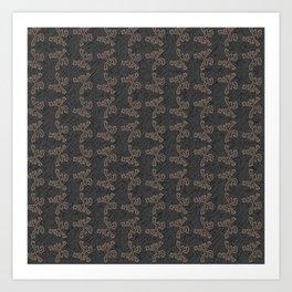 Coqui Taino Pattern Art Print