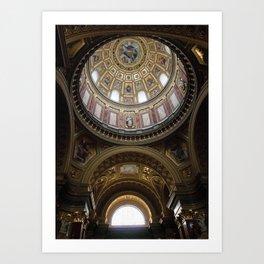 Window and Dome, St. Stephen Basilica, Budapest Art Print