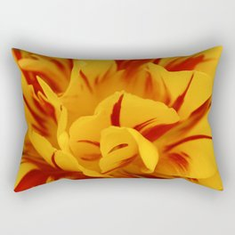 A Chaos of Reds and Yellows: in the Heart of a Triandrus Daffodil Rectangular Pillow