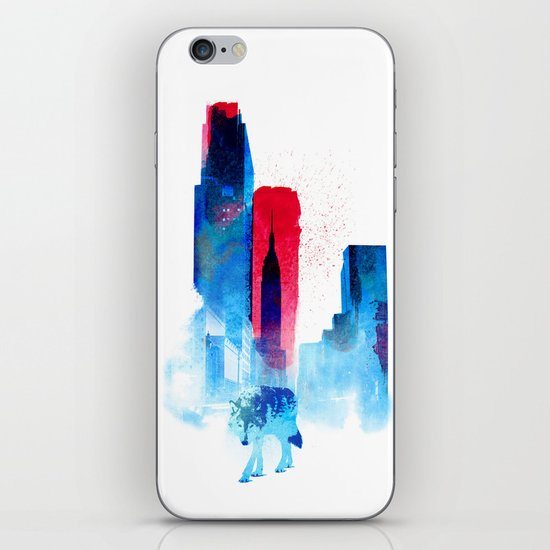 The wolf of the City iPhone & iPod Skin