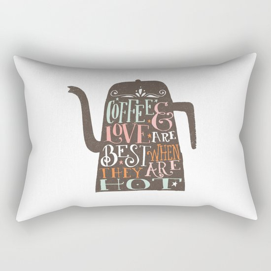 COFFE & LOVE Rectangular Pillow