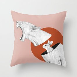 Lioness Bunny Throw Pillow