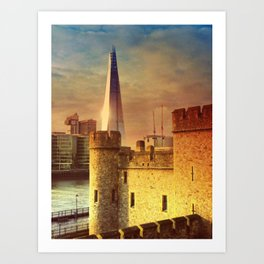 The Tower of London & The Shard Art Print